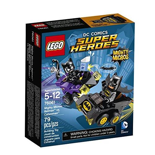 79 Pieces Batmans Mighty Micros Batmobile Vs Catwomans Mighty Micros Car Building Toy