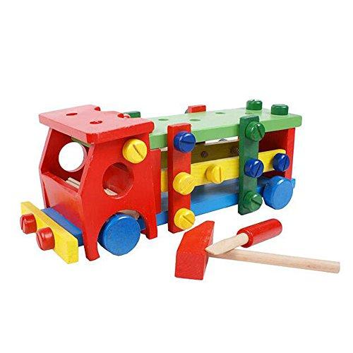 Dongcrystal Wooden Car Set Building Blocks Toy for Kids-Dismounting Truck Kids Gift
