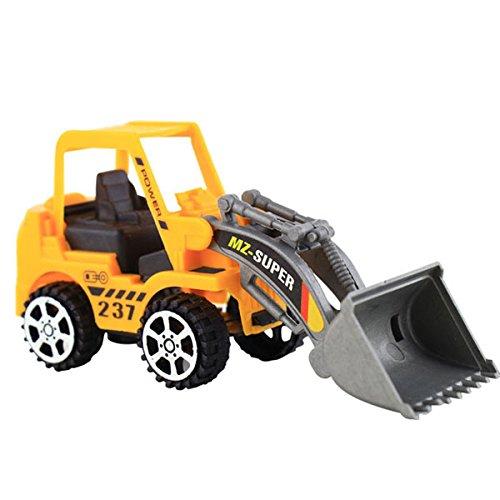 SUIE 1Pcs Bulldozer Truck Engineering Car Building Toy Model Figure for Boy
