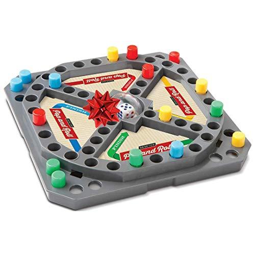 Travel Pop N Race Mini Board Game - Desktop Bubble Style Roller Peg Toy for Kids Family Play Set