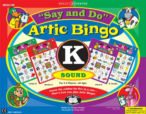 Say and Do Artic Bingo Sound Game Letter K - Super Duper Educational Learning Toy for Kids