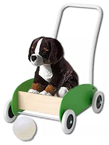 Toddler Walker Cart Wagon With Plush Burmese Puppy LED Night-Light Mood-Light Deco Ball Bundle - 5 Items 1 Walker-Wagon 1 Puppy 1 LED Magic Night-Light Mood-Light Deco Ball With 2 Spare Batteries