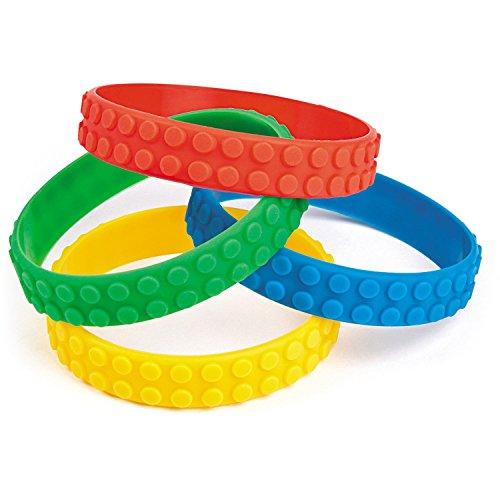 Fun Express Color Brick Building Block Party Favor Bracelets 24 Pack