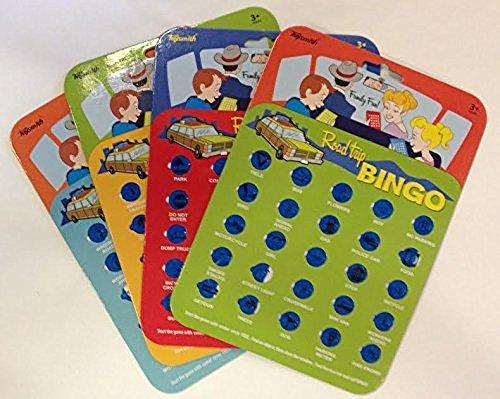 Travel Bingo Cards Car Road Trip Game Auto Bingo - Set of 4 Cards