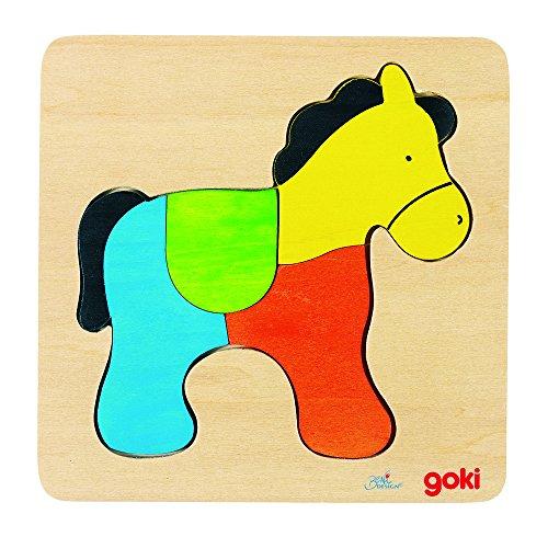 Goki Wooden Horse Puzzle 4 Piece