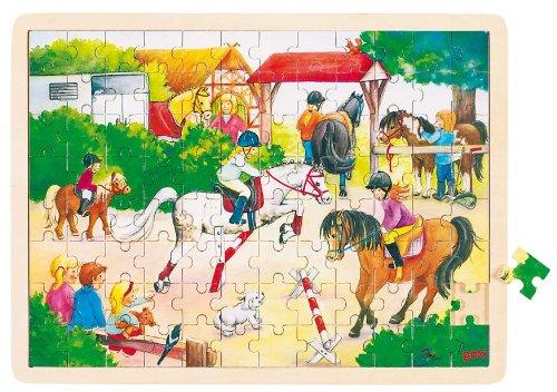 Goki Wooden Horse Show Puzzle 96 Piece
