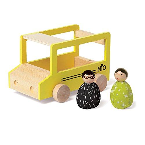 Manhattan Toy 213720 MiO School Bus  2 People Modular Wooden Building Set Playset