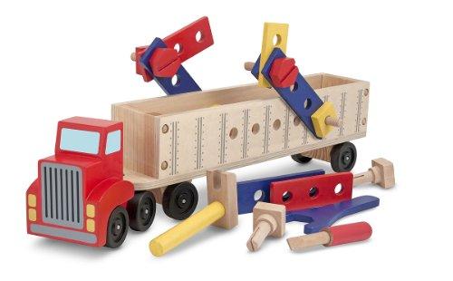 Melissa Doug Big Rig Truck Wooden Building Set 22 pcs
