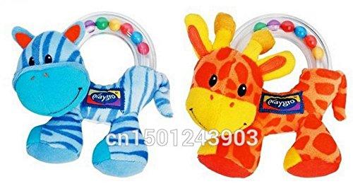 Lovely Baby Infant Hand Rattle Beads Animal Soft Plush Doll Educational Toys beba poklon za njegu 2pcs
