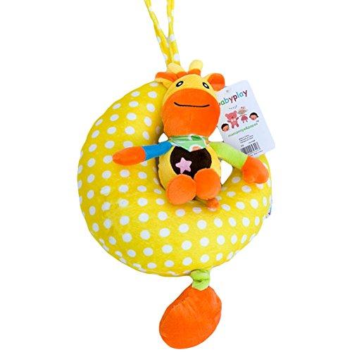 1990s Lovely Animals Soft Moon Music Box Handbells Rattle Plush Baby Rattles Toys-No103