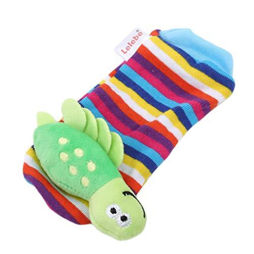 Guoshang Socks Rattles for Children Lovely Infant Baby Kids Foot Socks Rattles Finders Glove Toys