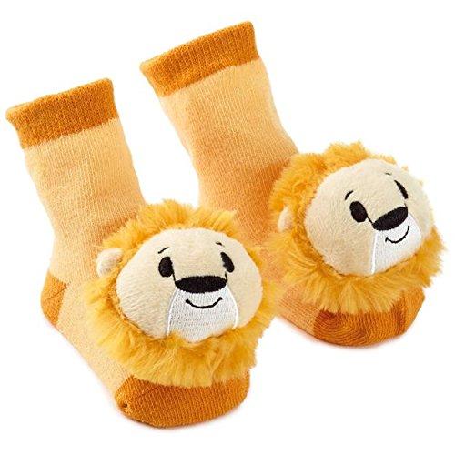 Hallmark itty bittys Noahs Ark Lion Baby Rattle Socks