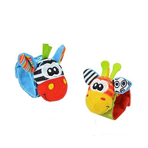 Lovely Infant Baby Foot Socks Rattles Toys