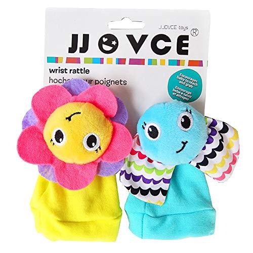 xinYxzR Cute Cartoon Flower Elephant Soft Wrist Band Socks Rattle Baby Infant Toy 2Pcs 2