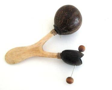 Coconut Maracas Shaker Rattle Wood Marcacas- Collectors Quality- JIVE BRAND