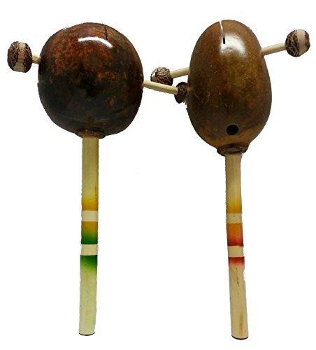 Original Handmade Purim Grogger Bamboo Maracas and Shakers Set of 2 Colors Vary