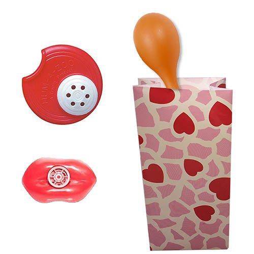 Valentines Goody Bag - Filled with Musical Toys - Lip Whistle Humazoo Orange Maraca Shaker