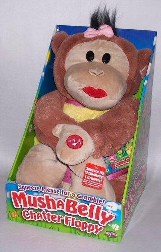 12 Mushabelly Grumble Chapper Talking Floppy Lila Plush Monkey