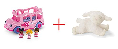 Fisher-Price Little People Lil Movers School Bus and Gund Winky the Lamb Rattle - Bundle