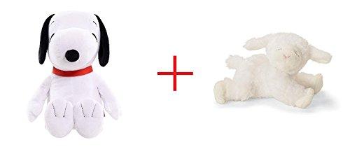 Peanuts Jumbo Plush - Snoopy and Gund Winky the Lamb Rattle - Bundle