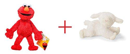 Playskool Sesame Street Elmo Jumbo Plush and Gund Winky the Lamb Rattle - Bundle