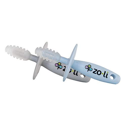 Zo·Li ZoLi Chubby Gummy teether  2 Pack Baby Teething Relief - Blue  Grey BPA Free Teething Stick