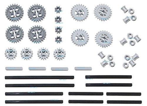 LEGO 46pc Technic gear axle SET 4 Includes RARE CROWN GEARS Mindstorms EV3 NXT Robots