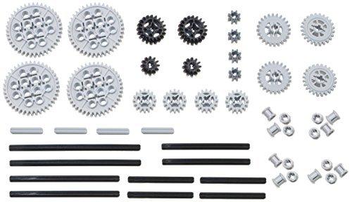 LEGO 50pc Technic gear axle SET Includes RARE CROWN GEARS Mindstorms EV3 NXT Robots