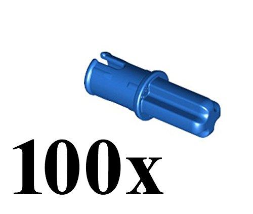 LEGO Technic NEW 100 pcs AXLE PIN Connector Blue Mindstorms NXT EV3 Part Piece 43093 lot pack set robot robotics motor building