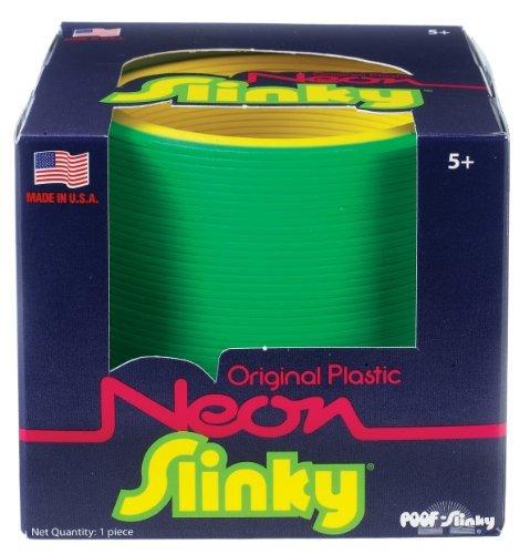 The Original Slinky Brand Neon Plastic Slinky by POOF