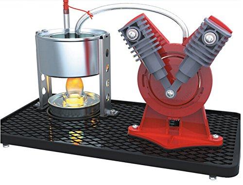 SunnytechMini Hot Live Steam Engine Model Education Toy Kits DIY V-type