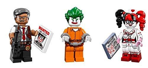 LEGO Joker Harley Quinn Commissioner Gordon Minifigures Batman