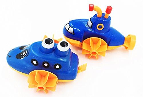 D-Mcark Sealife Swimmers Submarine Wind Up Bathtub Pool Toys 2 Pack