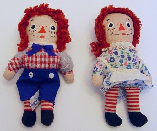 Knickerbocker Raggedy Ann Raggedy Andy 65 Inch Rag Dolls