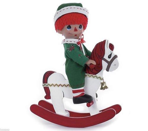 Precious Moments Rocking Raggedy Andy Christmas Boy 9 Doll 4767