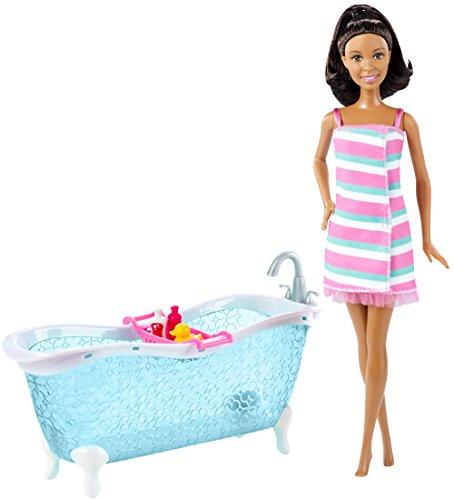 Barbie African-American Doll and Bathtub Playset