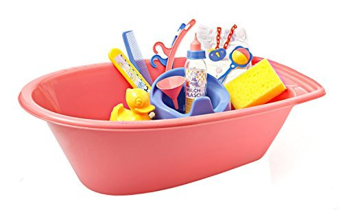 Heless 713 Dolls Bath Tub Large 51 cm with Accessories by Heless