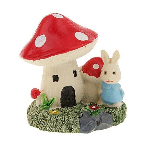 No brand goods miniature dollhouse interior miniature garden for resin bonsai craft garden landscape decoration props mushroom Villa