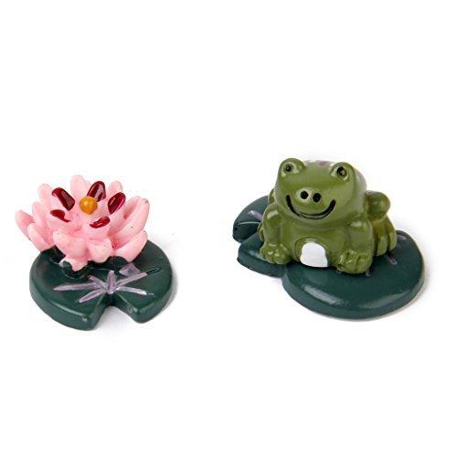 No brand goods miniature dollhouse interior resin bonsai craft garden landscape decoration props DIY frog