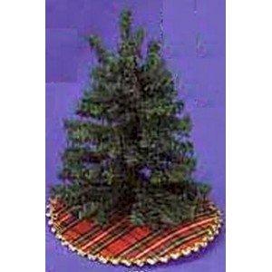 Dollhouse Miniature 112 Scale Christmas Tree Skirt Plaid DHS4591