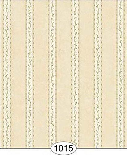 Dollhouse Wallpaper 112 Vine Stripe Green