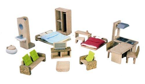 PlanToys The Green Dollhouse Furniture Set by PlanToys