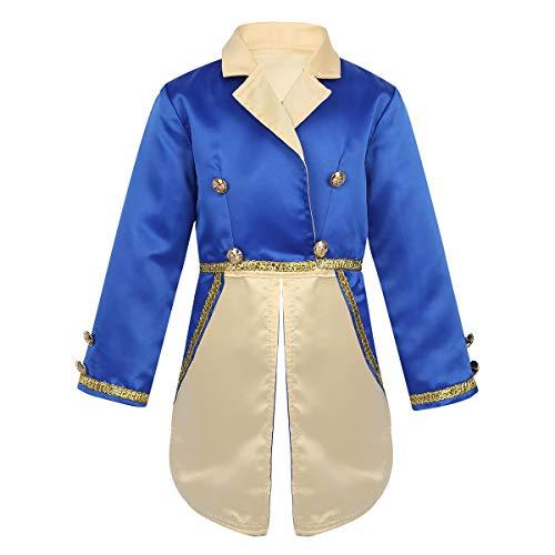 FEESHOW Kids Baby Boys Prince Halloween Cosplay Costume Tailcoat Tuxedo Suit Jacket Blue Jacket 12-18 Months