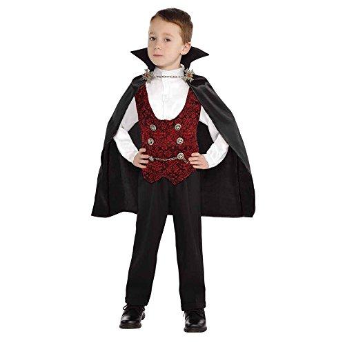 Lingway Toys Kids Toddler Boys Vampire of Darkness Halloween Costume M8-10 BlackRed
