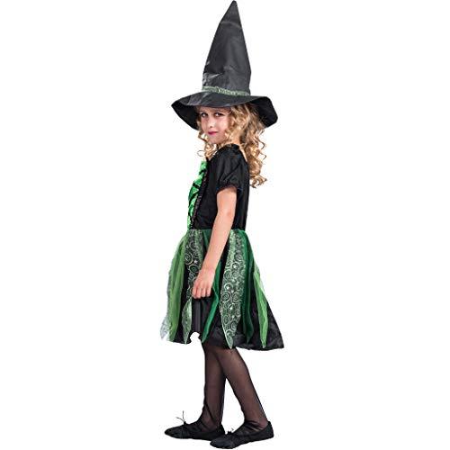 EraSpooky Children Girls Halloween Birthday Party Costume Selection Groovy Witch-Green Medium