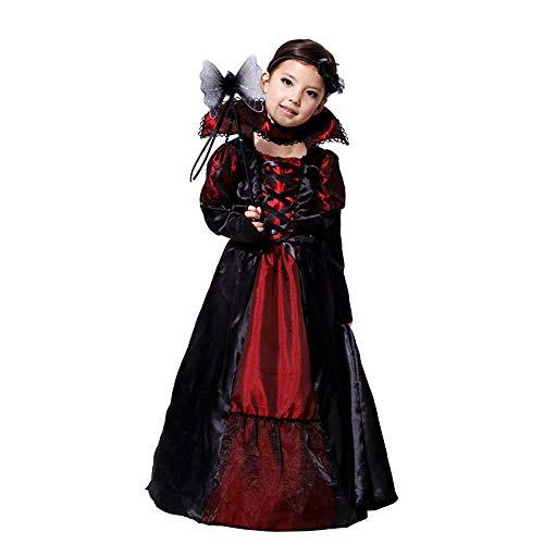 Jeeke Halloween Costumes for Kids GirlsGirls Witch Costume Girl Halloween Dresses Black M