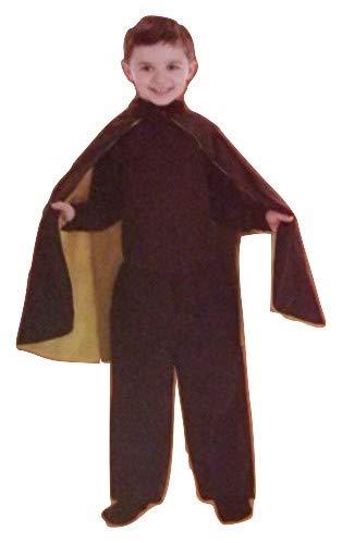 Child Halloween Costume Superhero Cape Black