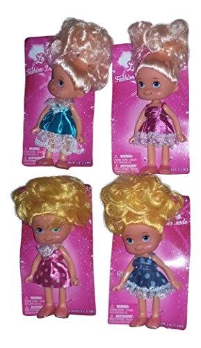 Little Girls Doll Set of 4 5 tall