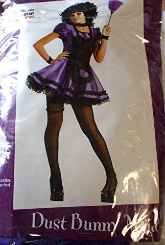 California Costumes Dust Bunny Maid Purple Black Teen Junior 3-5 NIP Costume