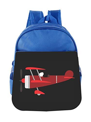 Red Helicopter Toddler School Bag Set